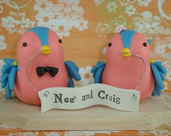 Custom Sparrows Cake Topper