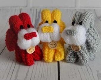 Folded Dog Knitting Pattern, Dog Knitting Pattern, Puppy Knitting Pattern, Easy Dog Knitting Pattern, Puppy Knit, Beginners Knitting Pattern