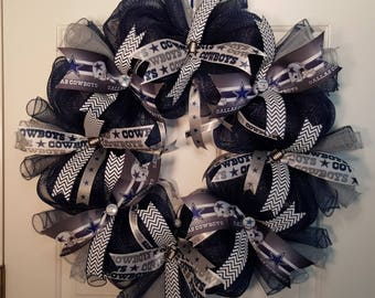 Dallas Cowboy Mesh Wreath
