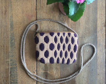 Polka Dot Crossbody Bag | Wool, bamboo