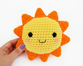 CROCHET PATTERN in English - Mr. Sunshine - 6.3 in./16 cm. tall - Amigurumi - Instant PDF Download