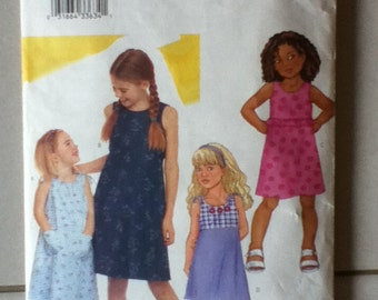 "Butterick Girl's Dress Pattern 3148 Girl's Size: 6-8, Breast 25""-28"", Height  47""-52"""