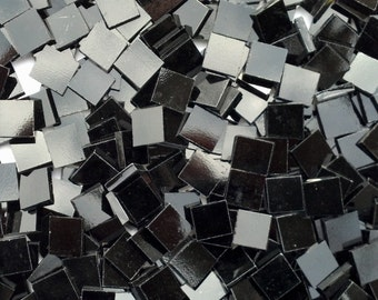 Black Stained Glass Mosaic Tiles