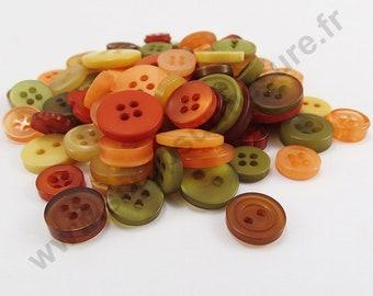 Decorative button - KHAKI Brown coral - x50pcs