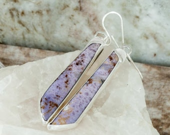 Purple Burro Creek Jasper Earrings Long Earrings Handmade