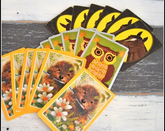 Vintage Playing Card Grouping - Critter Cards - Lot of Vintage Cards - Playing Cards - Card Swap   (#C2)