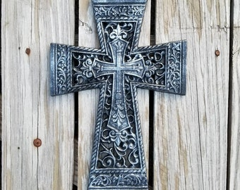 Cross, wall cross, iron cross, celtic, decorative cross, rustic cross, metal cross, ornate cross, wedding gift. Cross wall, iron anniversary