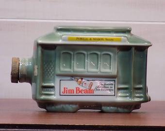 Vintage San Francisco Trolly Car Bottle for Jim Beam Burbon