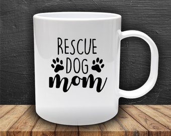 Rescue Dog Mom -  Decal