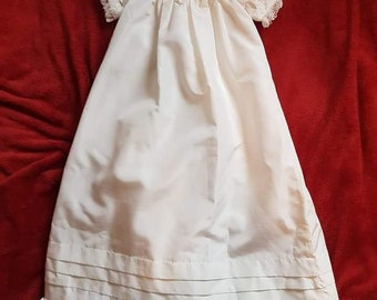 Hand crafted, hand embroidered, tradtional Christening Gown