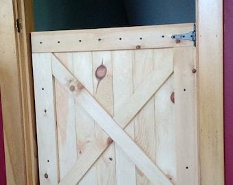 Barn door gate pet gate half door- Up to 36\ x30\  size & Half-Door Gate with Safety Latch - Dog Gate - Safety Gate - Dutch ...