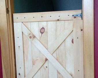 Barn door gate pet gate half door- Up to 36 x30  size & Half-Door Gate with Safety Latch - Dog Gate - Safety Gate - Dutch ...