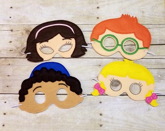 Smart Kids, Felt Mask, Child Mask, Pretend Play, Costume Accessories, Halloween Mask, Party Favors, Dress Up, Little Einstein Inspired Toys