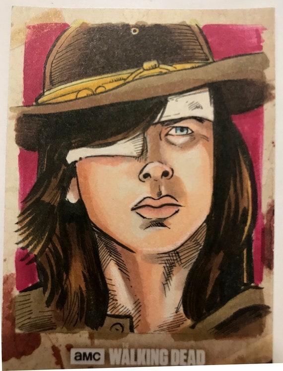Topps Walking Dead Season 8 Artist Return sketchcard: Carl