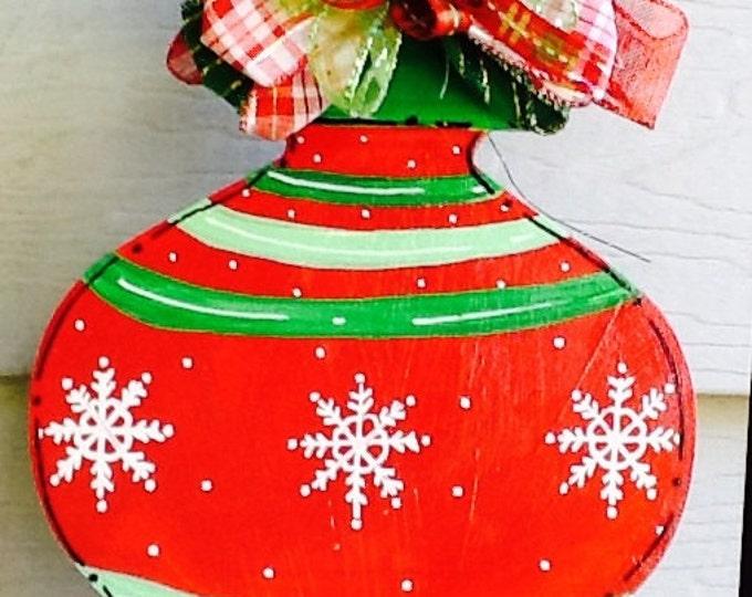 Christmas ornament, holiday ornament, holiday door hanger, christmas door hanger, christmas decoration