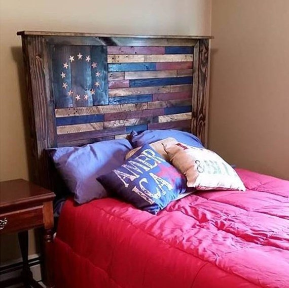 Fresh American Flag Headboard VZ16