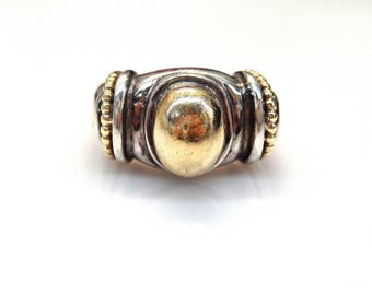 Sterling Silver 2 Tones Medieval Style Ring
