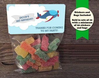 Airplane Party Favors, Pilot Party Favors, Airplane Birthday Party, Trains Planes and Cars Party, Automobile Birthday Party, Birthday Favors