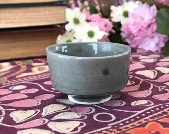 Small Gray Porcelain Teacup