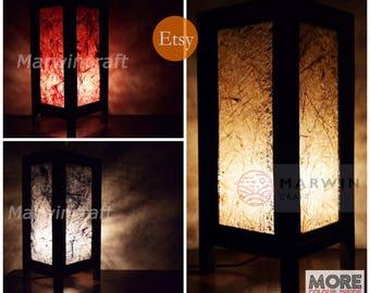3 Colour Of Asian Oriental Fiber Japanese Lamp Zen Bedside Lamp Floor Table  Lamp Light Lamp