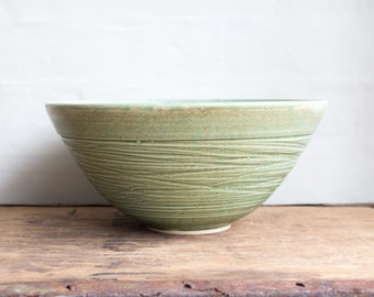 Large Bowl in Mint Green
