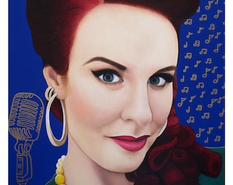 True Beauty - Tia Brazda - ART PRINT - 8 x 10 - By Toronto Portrait Artist Malinda Prudhomme