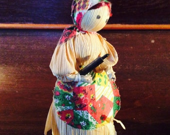 Lady in the Kitchen Corn Husk Doll