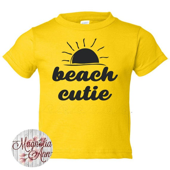 Beach Cutie Shirt, boys graphic tee, girls graphic tee, baby shirt, kids clothes, toddler shirt, beach shirt, summer tees, infant shirt