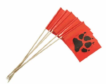 dog print flagging markers