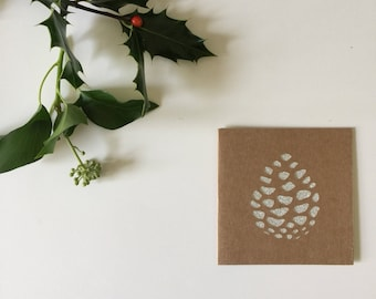 Frosted Pine - Handmade christmas cards - Free UK Shipping