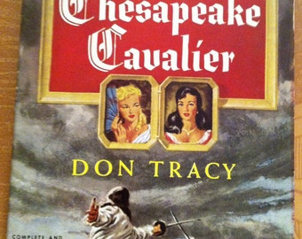 Vintage Paperback Pocket Book 729 'Chesapeake Cavalier' by Don Tracy, 1950, 1st; NM Cond.