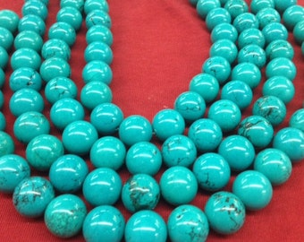 Round Stabilized Chinese Turquoise Beads