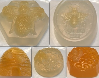 Five novelty bee soaps to choose from, made with honey soap