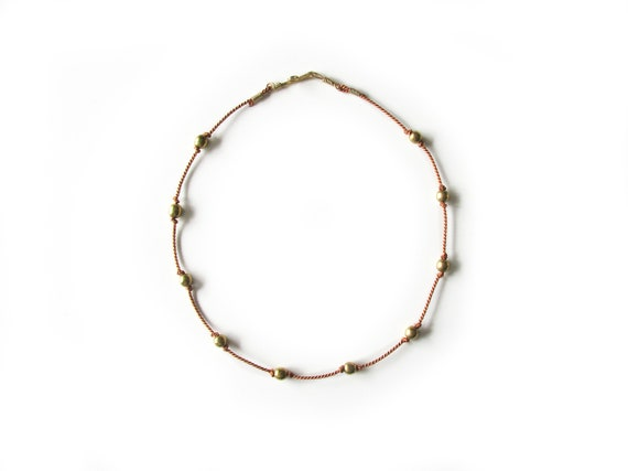 Stella Necklace, orange rust