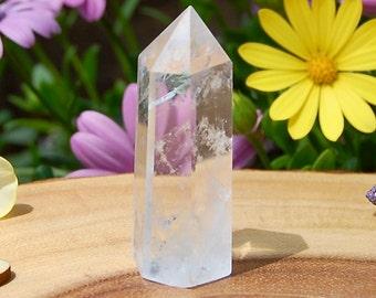 Clear Quartz Crystal Point, Grid, Raw Quartz, Chakra Cleansing, Energy Balancing, Meditation, Healing Crystal, 32 Grams