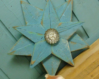 Wooden Star Small Beach House Wall Art Inside Outside by CastawaysHall