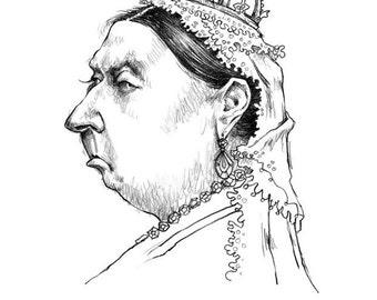 Queen Victoria, 8.5x11 print