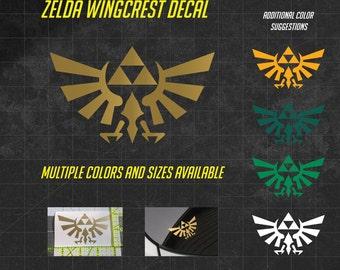 Zelda Decal - Wingcrest Decal - Sticker - The Legend of Zelda - Hylian - Triforce Decal