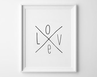 Love Nursery Decor, wall art, kids room decor, poster, black and white, scandinavian poster, nursery prints, inspirational kids room