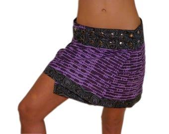 Button Skirt -Pixie Skirt - Festival Skirt, Long Skirt, Gypsy Skirt, Bellydance Skirt, Hippie Skirt, Psytrance, Pixi Skirt, Pocket Skirt