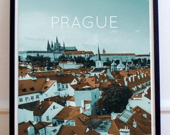 Prague, Czech Republic Poster 11x17 18x24 24x36