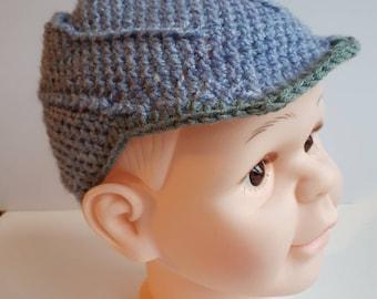 Visor hat, boys Hat, vegan friendly,  100% premium acrylic. Summer hat