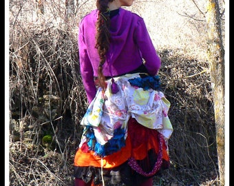 colorful patchwork cotton tribal skirt