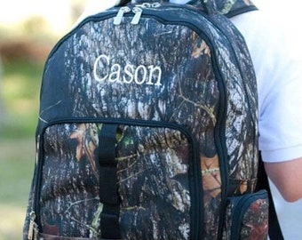 Woods Camo Backpack and Lunch box Set, MONOGRAM INCLUDED, Personalized Backpack, Monogram Backpack, Boy Backpack, Back to School