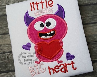 Little Monster Big Heart applique