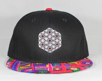 The Circle of Life Sacred Geometry Tribal Print Snapback Hat