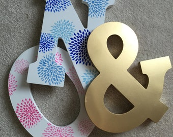 Floral Burst Letter Duo