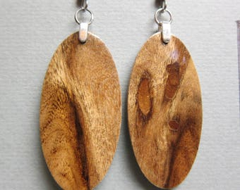 rare Black Mesquite Earrings Exotic Wood handmade ExoticWoodJewelryAnd ecofriendly earthy