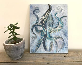 Octopus on Canvas, ready to hang wall art