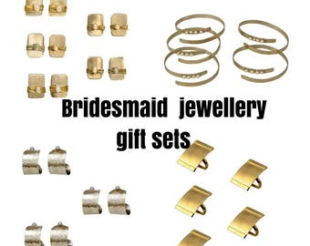 Bridesmaid jewelry sets, proposal gifts, thank you gifts, dainty wedding jewel, discount sets, bracelets sets, earrings sets, necklace sets